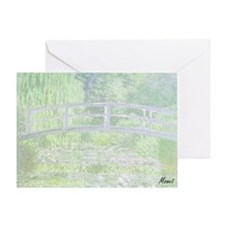 MONET Water Lily Pond Green Greeting Card