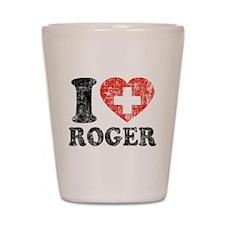 I Heart Roger Grunge Shot Glass