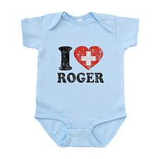 I Heart Roger Grunge Infant Bodysuit