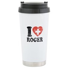 I Heart Roger Grunge Ceramic Travel Mug