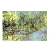 MONET Water Lily Pond Willow Postcards (Pk of 8)