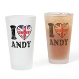I Heart Andy Grunge Drinking Glass