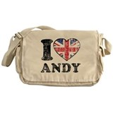 I Heart Andy Grunge Messenger Bag
