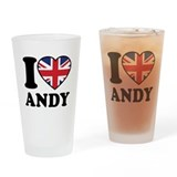 Love Andy Drinking Glass