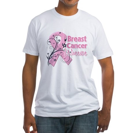 Breast Cancer Warrior Fitted T-Shirt