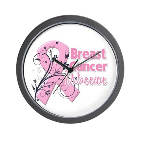 Breast Cancer Warrior Wall Clock