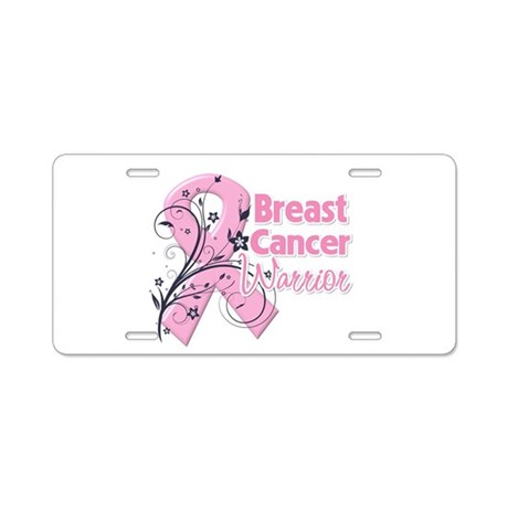 Breast Cancer Warrior Aluminum License Plate