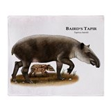 Baird's Tapir Throw Blanket
