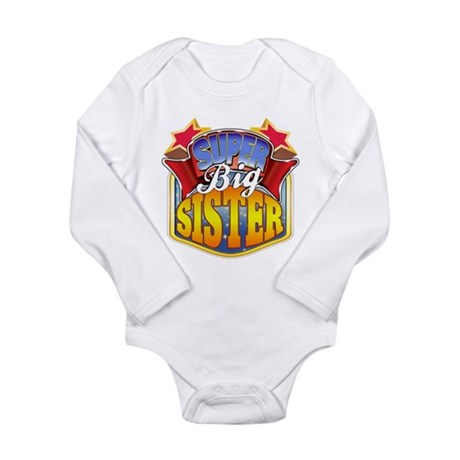 Super Big Sister Long Sleeve Infant Bodysuit