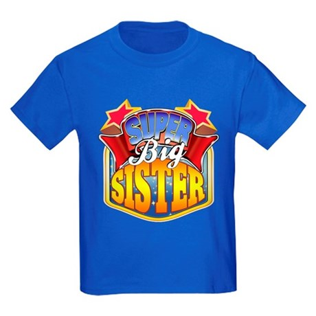 Super Big Sister Kids Dark T-Shirt