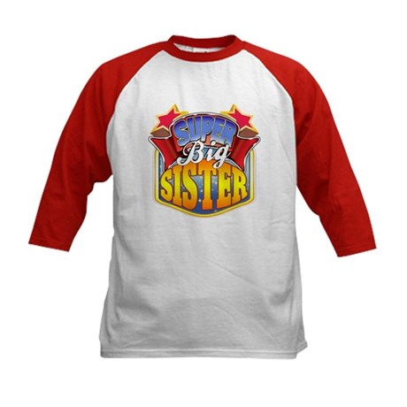 Super Big Sister Kids Baseball Jersey