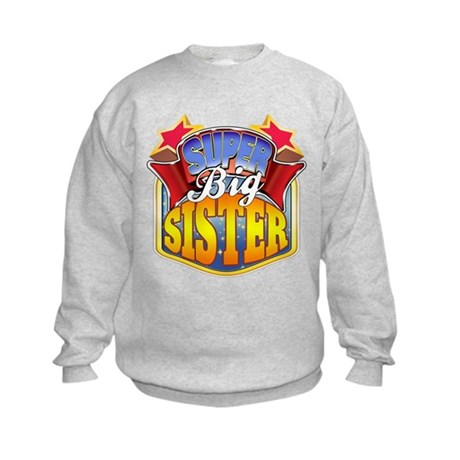 Super Big Sister Kids Sweatshirt