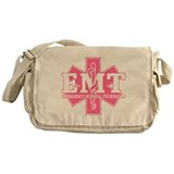 Star of Life EMT - pink Messenger Bag