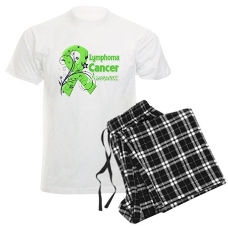 Lymphoma Flower Ribbon Men's Light Pajamas