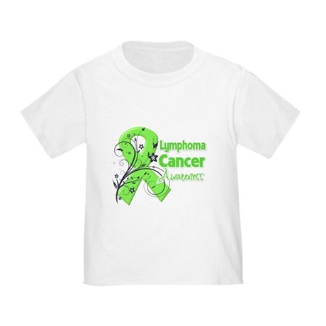 Lymphoma Flower Ribbon Toddler T-Shirt