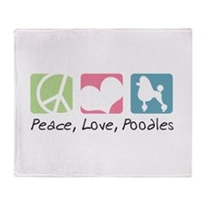 Peace, Love, Poodles Throw Blanket