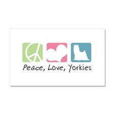 Peace, Love, Yorkies Car Magnet 20 x 12