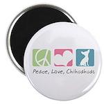 Peace, Love, Chihuahuas Magnet