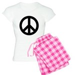 Black Peace Sign Women's Light Pajamas