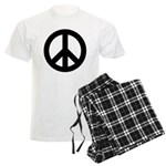Black Peace Sign Men's Light Pajamas