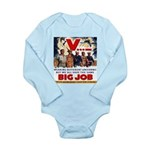 Same Big Job Long Sleeve Infant Bodysuit