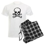Skull and Crossbones Men's Light Pajamas