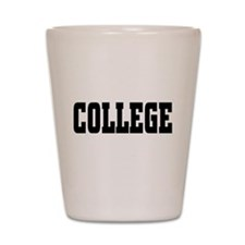 College Shot Glass