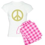 Golden Peace Sign Women's Light Pajamas