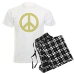 Golden Peace Sign Men's Light Pajamas