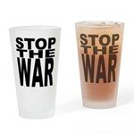Stop The War Drinking Glass