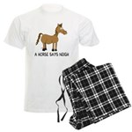 A Horse Says Neigh Men's Light Pajamas