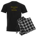 Blondes Not Bombs Men's Dark Pajamas