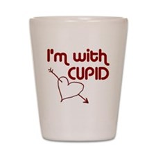 I'm With Cupid Shot Glass
