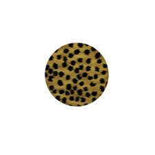 Faux Cheetah Animal Print Mini Button (10 pack)