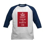 Keep Calm and Party On (Red) Tee