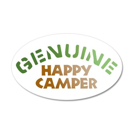 Genuine Happy Camper 22x14 Oval Wall Peel