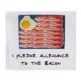 Allegiance To the Bacon Throw Blanket