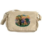 St.Francis #2/ Golden Ret(B4) Messenger Bag