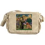 St Francis & Golden Messenger Bag
