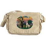 St.Francis #2/ Great Dane (H) Messenger Bag
