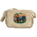 St.Fran. #2/ Havanese pup Messenger Bag