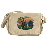 St.Francis #2/ Italian Greyho Messenger Bag