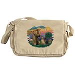 St.Francis #2/ Two Labradors Messenger Bag