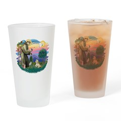 St.Francis #2 / Lhasa Apso (R Drinking Glass