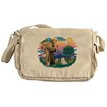 St.Francis #2/ Maltese #7 Messenger Bag