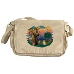St.Francis #2/ Pomeranian (f) Messenger Bag