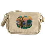 St.Fran #2/ Poodle (Std S) Messenger Bag