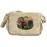 St.Fran #2/ Poodle (Std-ap) Messenger Bag