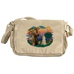 St.Francis #2/ Poodle (Std W) Messenger Bag