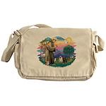 St.Francis #2/ Pugs (2-blk/f) Messenger Bag